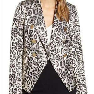 NWT Rachel Parcell Leopard Blazer